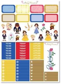 Beauty and the Beast Disney Planner Sticker Kit by PeonyPlanner