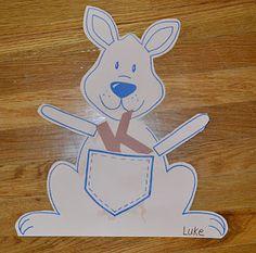 K-Kangaroo Activity with Book