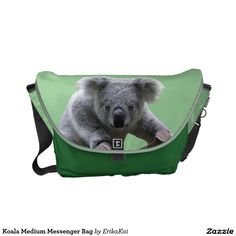 Koala Bear Medium Rickshaw Messenger Bag. Water resistant, extra durable. Interior and binding 20 color options.