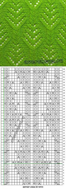 узор спицами 594   каталог вязаных спицами узоров