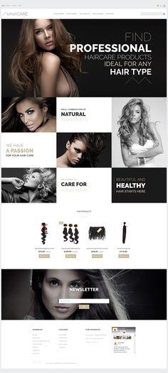 Hair Care - Professional Salon MotoCMS Ecommerce Template #63722