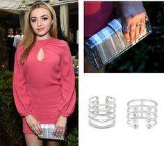 Peyton List - Wearing Stella & Dot's Maylee & Gemini Rings in Silver