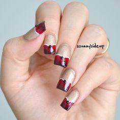 ssunnysideup: 6 ways to rock your heart frenchy nails on my blog www.ssunnysideup.com
