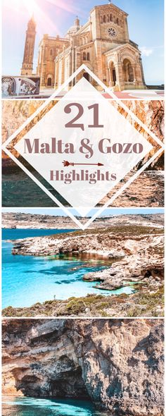 21 sights on Gozo - tips for Malta ⋆ Child & Compass Europe Travel Guide, Travel Destinations, Malta Gozo, Reisen In Europa, Hidden Beach, Countries To Visit, Archipelago, Travel Agency, Beautiful Islands