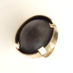 Heidi Abrahamson Brass and sterling ring.
