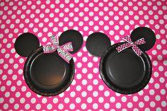 DIY Minnie Mouse Plates