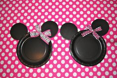 DIY Minnie Mouse Plates