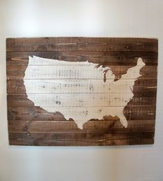 DIY United States Map Wall Décor Wooden Rustic Sign And Tutorial - Giant us map stencil