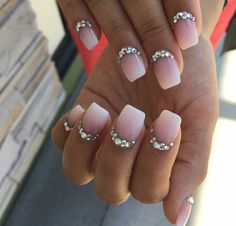 Without the stones Hot Nails, Hair And Nails, Matte Nails, Acrylic Nails, Glamour Nails, Nail Time, Square Nails, Fabulous Nails, Cute Nail Designs
