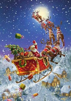 Christmas is coming . the artist Marcello Corti . Christmas is coming . the artist Marcello Corti . Old Time Christmas, Old Fashioned Christmas, Christmas Scenes, Christmas Past, Father Christmas, Vintage Christmas Cards, Christmas Images, Christmas Greetings, Winter Christmas