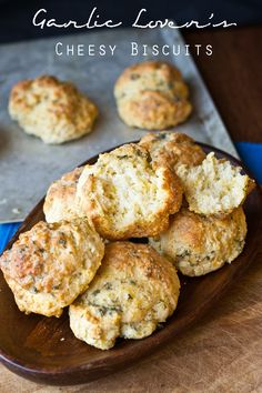 Garlic Lover's Cheesy Biscuits on MyRecipeMagic.com. Garlic lovers will love these cheesy biscuits. They bake up big, fluffy, soft and full of cheesy garlic flavor!