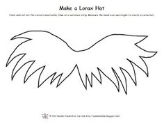 FREE Pattern to make a Lorax moustache hat... or put the mustache on a stick/straw of some sort for Lorax 'stache.
