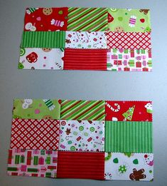 Make placemats for Christmas ? Easy Christmas Mug Rug Tut Christmas Mug Rugs, Christmas Sewing, Simple Christmas, Christmas Crafts, Christmas Coasters, Christmas Quilting, Christmas Wrapping, Christmas Ideas, Merry Christmas