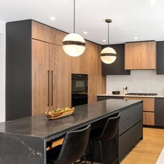 Kitchen and dining room design with walnut cabinets and black table. The project was taking place in Los Angeles, Dona Lola drive with Walnut Cabinets, Black Table, Dining Room Design, Kitchen Dining, Modern Design, Community, House Design, Interior Design, Wood