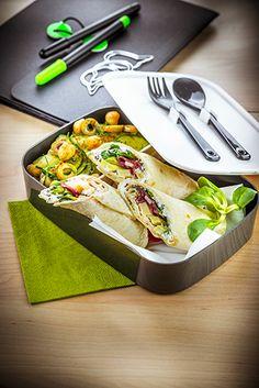 déjeuner au travail recette wrap maison salade de pois chiche et concombre companion moulinex lunch box