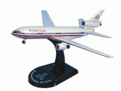 """Model Power 1/400 DC-10-30 'American Airlines' MDP58201 by Model Power. $12.39. This is a 1:400 scale die-cast model airplane from Model Power of the Douglas DC-10 aircraft in the colors of American Airlines. Each model in the series is diecast with plastic parts. Scaled to box size, models range in size from 4 to 6"""" in length. Each model includes a labeled display stand.. Save 27%!"""