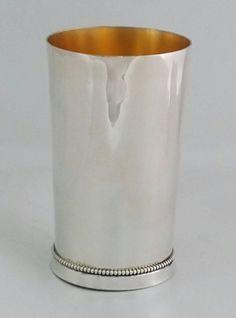 """Sterling silver 925 handmade """"Jumbo"""" Kiddush cup by STUBSILVERWARE on Etsy"""