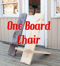 One Board Minimalist Chair - DIY Gift World