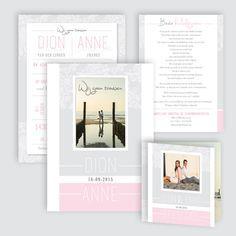 Trouwkaart Dion en Anne, ontworpen door Ontwerp Studio Rottier