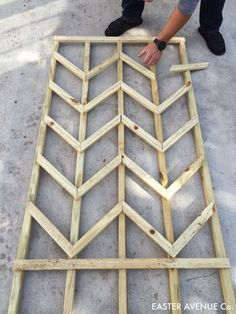how to build a chevron lattice for garden plants, step 15 - Easter Avenue Co on /Remodelaholic/