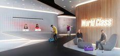 World Class Fitness Club | HAAST Architectural Bureau | Reception Zone Design