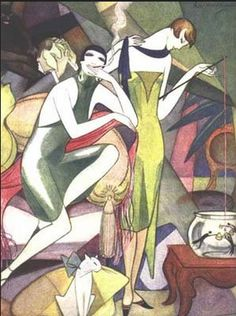 By Jeanne Mammen (1890-1976), 1925, Fishing for Gold.