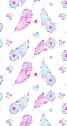 50 trendy wallpaper iphone boho we heart it Unicornios Wallpaper, Feather Wallpaper, Wallpaper Fofos, Kawaii Wallpaper, Pastel Wallpaper, Trendy Wallpaper, Tumblr Wallpaper, Pretty Wallpapers, Cellphone Wallpaper