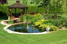 Enjoy the Peace and Serenity with Backyard Pond Decor Outdoor Ponds, Ponds Backyard, Backyard Landscaping, Garden Ponds, Garden Pond Design, Landscape Design, Fish Pond Gardens, Building A Pond, Natural Pond