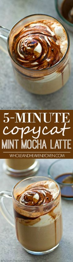 If you love the Starbucks mint mocha latte, you will fall head-over-heels for this easy, five-minute copycat version that's also on the lighter side!