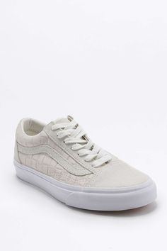 Vans Old Skool Off-White Checked Suede Trainers