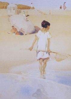 The Shrimp Girl, Watercolor - Sir William Russell Flint (Scottish, 1880-1969)