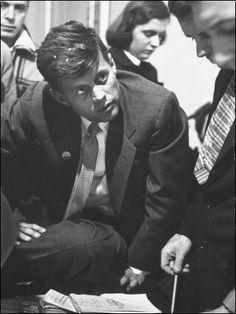 Yale Joel - John F. Kennedy on Election Night