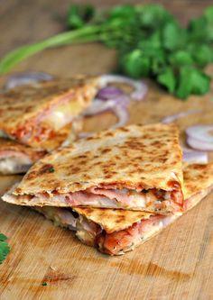 Hawaiian Pizza Quesadillas recipe
