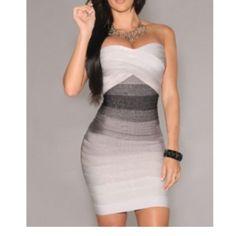 Ombré bandage dress  Evogueclothing.bigcartel.com