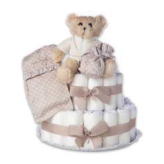 Babyshower gifts. Diaper Cakes. Regalos Bebé, Tarta de Pañales.
