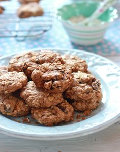 Gwyneth Paltrow's oatmeal raisin cookies made with spelt flour. A delicious, healthy snack that both kids and adults will love. You'd never know that they're vegan too!