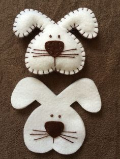 Felt Crafts Diy, Spring Crafts, Easter Crafts, Holiday Crafts, Rabbit Crafts, Felt Pillow, Diy Ostern, Easter Projects, Felt Christmas Ornaments