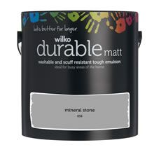 Wilko Durable Matt Emulsion Paint                 Mineral Stone 2.5L