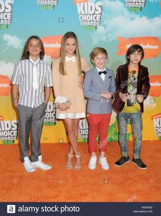 Download this stock image: Inglewood, CA, USA. 12th Mar, 2016. Mace Coronel, Lizzy Greene, Casey Simpson, Aidan Gallagher. 2016 Nickelodeon Kids' Choice Awards held at The Forum. Photo Credit: Byron Purvis/AdMedia © Byron Purvis/AdMedia/ZUMA Wire/Alamy Live News - FMXGR2 from Alamy's library of millions of high resolution stock photos, illustrations and vectors.