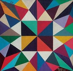 These paintings by Antônio Maluf of Brazil would make great modern quilts. Go to the original page for more.