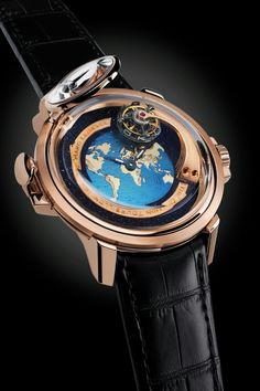 The Gagarin Tourbillon by Bernhard Lederer was presented about two years ago, as a tribute to the Russian cosmonaute Yuri Gagarin and the 50th anniversary of the historic 1961 event, which made him the first human to journey into the outer space. For Summer 2013, Bernhard Lederer Universe - a high-end manufacture run by independent watchmaker Bernhard Lederer - presents a new variant of The Gagarin Tourbillon, which now features a world map on the dia