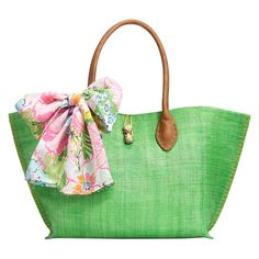 Lilly Pulitzer for Target Raffia Tote Bag - Nosie Posey