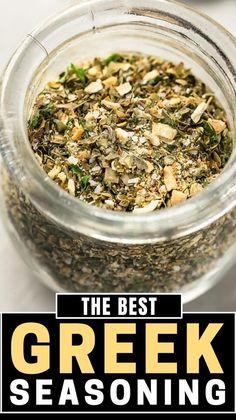 Keto Seasoning, Greek Seasoning, Seasoning Mixes, Homemade Spice Blends, Homemade Spices, Homemade Seasonings, Spice Mixes, Recipe Ingredient Substitutions, Mediterranean Recipes