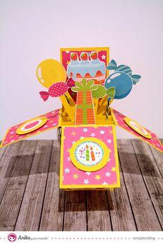 Tarjeta pop up o 3D de cumpleaños #scrapbooking #scrap #card