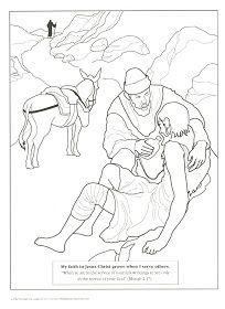 Printable Coloring Page for Parable of the Good Samaritan   noah ...