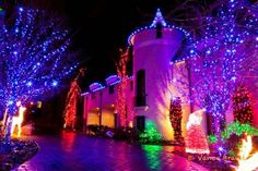 Colorful Led Christmas Lights on Houses in Canada 2013