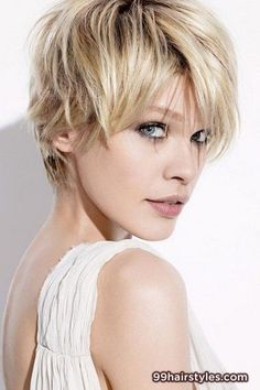 layered messy short blonde hairstyle idea - 99 Hairstyles Ideas