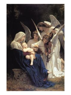Song of The Angels Premium Poster by William Adolphe Bouguereau at Art.com