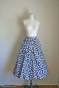 vintage novelty print skirt  MAD for HATS 80s does 50s by MsTips, $28.00