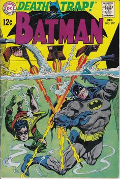 Batman 1940 207 December 1968 Issue  DC Comics cover datk knight robin